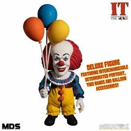 """Mezco Toyz Figurine - IT The Movie - Pennywise Classique Avec Pièces Interchangeables 8"""""""
