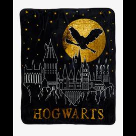 Her Universe Couverture - Harry Potter - Château de Poudlard avec Hedwige Jeté en Peluche