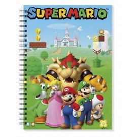 Pyramid America Notebook - Nintendo Super Mario - Mario, Luigi, Peach, Toad, Yoshi and Bowser Ring Book