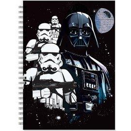 Pyramid America Notebook - Star Wars - Darth Vader, Stormtrooper and Death Star Ring Book