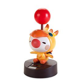 """Indieszero Co Figurine - Square Enix Final Fantasy - Moogle Chibi Déguissé en Chocobo Bouge Sous la Lumière All Star Collection 7"""""""