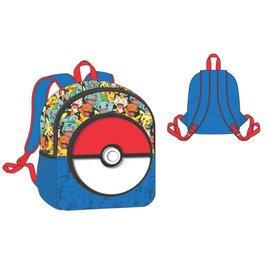 Bioworld Mini sac à dos - Pokémon - Poké Ball en Caoutchouc et Personnage Variés