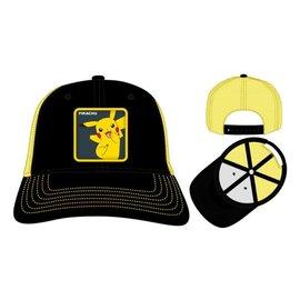 Bioworld Baseball Hat - Pokémon - Pikachu Patch Black and Yellow Trucker Adjustable