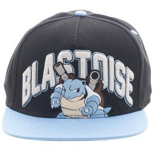 Bioworld Casquette - Pokémon - Blastoise Brodé 3D Bleue et Noire  Ajustable Snapback