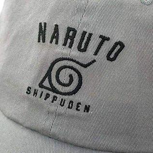 Bioworld Casquette - Naruto Shippuden - Symbole de Konoha Brodé Grise