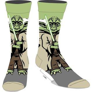 Bioworld Chaussettes - Star Wars - Yoda Sabre Laser Vert 360 1 Paire Crew