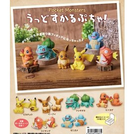 ShoPro Blind Box - Pokémon Pocket Monsters - Keychain Mini Figurine Collection Chiseled Wood Appearance
