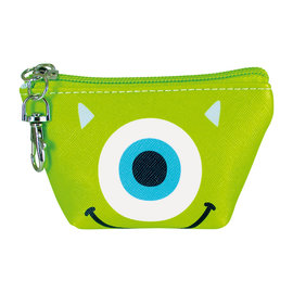 Disney Entreprise Portefeuille - Disney Pixar Monster Inc. - Visage de Mike Wazowski Petit Porte-Monnaie Triangulaire