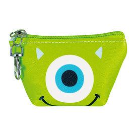 Disney Entreprise Wallet - Disney Pixar Monster Inc. - Mike Wazowski Face Triangle Mini Coin Pouch