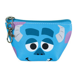 Disney Entreprise Portefeuille - Disney Pixar Monster Inc. - Visage de Sulley Petit Porte-Monnaie Triangulaire