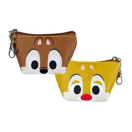 Disney Entreprise Wallet - Disney Risk Rangers - Chip & Dale Face Triangle Mini Coin Pouch