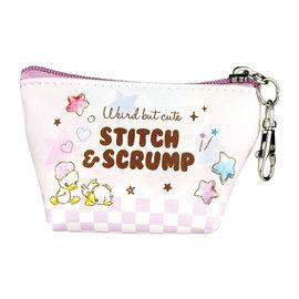 Disney Entreprise Portefeuille - Disney Lilo & Stitch - Stitch & Scrump Pastel Petit Porte-Monnaie Triangulaire