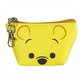 Disney Entreprise Wallet - Disney Winnie the Pooh - Winnie the Pooh Face Triangle Mini Coin Pouch