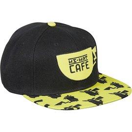 Bioworld Baseball Hat - Pokémon Détective Pikachu - Pikachu Hi-Hat Café Yellow and Black Adjustable Snapback