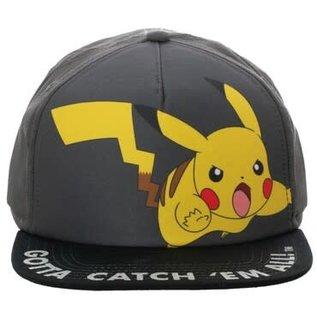 Bioworld Casquette - Pokémon - Pikachu en Action Gotta Catch 'Em All  Ajustable Snapback
