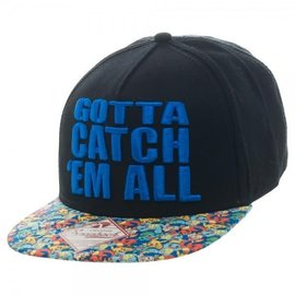 Bioworld Baseball Hat - Pokémon - Gotta Catch 'Em All  Adjustable Snapback