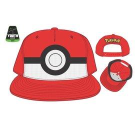 Bioworld Baseball Hat - Pokémon - Poké Ball Rouge Adjustable Snapback Youth