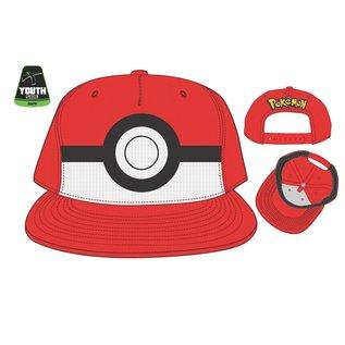 Bioworld Casquette - Pokémon - Poké Ball Rouge Enfant Ajustable Snapback