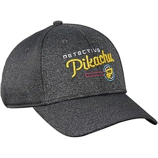 Bioworld Casquette - Pokémon Détective Pikachu - Logo Grise Ajustable