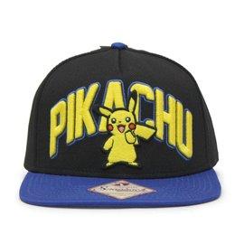 Bioworld Baseball Hat - Pokémon - Pikachu Embroidered 3D Adjustable Snapback