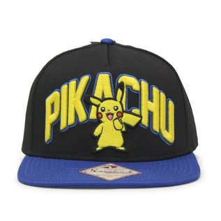Bioworld Casquette - Pokémon - Pikachu Brodé 3D Ajustable Snapback
