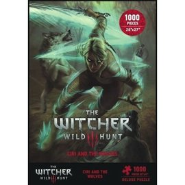 Dark Horse Casse-tête - The Witcher 3 Wild Hunt - Ciri and the Wolves Deluxe 1000 pièces