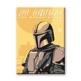 Aquarius Aimant - Star Wars The Mandalorian - Le Mandalorian Armure Planète Jaune