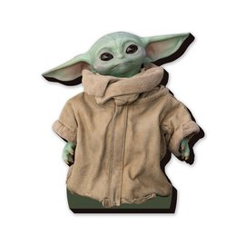 "NMR Aimant - Star Wars The Mandalorian - The Child ""Bébé Yoda"" Grogu en Bois 3D 5.5''"