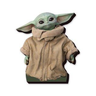 "NMR Aimant - Star Wars The Mandalorian - The Child ""Bébé Yoda"" Grogu en Bois 3D 5.5''"