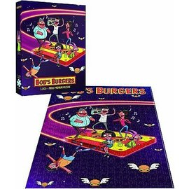 Usaopoly Puzzle - Bob's Burger - Flying Tape Cassette 1000 pieces *Clearance*