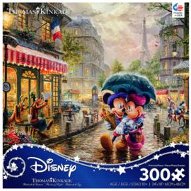 Ceaco Casse-tête - Disney Mickey Mouse - Mickey et Minnie sous la Pluie par Thomas Kinkade 300 pièces
