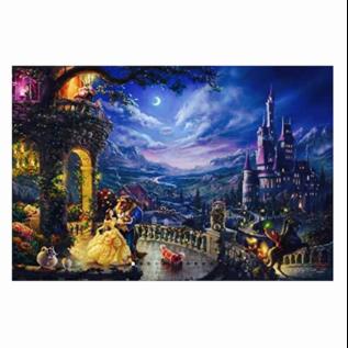Ceaco Casse-tête - Disney La Belle et la Bête - Danse au Clair de Lune par Thomas Kinkade 300 pièces
