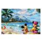 Ceaco Casse-tête - Disney Mickey Mouse - Mickey et Minnie à la Plage par Thomas Kinkade 750 pièces