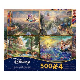 Ceaco Puzzle - Disney - Dreams by Thomas Kinkade Set of 4 of 500 pièces