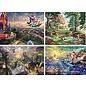 Ceaco Casse-tête - Disney - Rêves par Thomas Kinkade Ensemble de 4 de 500 pièces