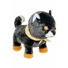 """Amuse Plush - Amuse Collection - Shiba Inu Blue with Yellow and White Scarf 13.5"""""""