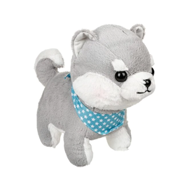 """Amuse Plush - Amuse Collection - Husky with Starry Blue and White Scarf 13.5"""""""
