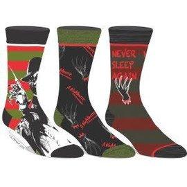 Bioworld Socks - A Nightmare on Elm Street - Freddy Krueger Pack of 3 Pairs Crew