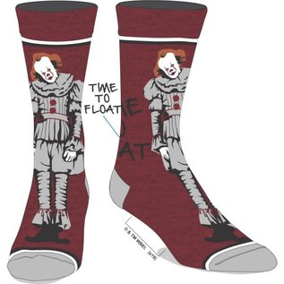 Bioworld Chaussettes - It Chapter Two - Pennywise It's Time to Float Rouge1 Paire Crew