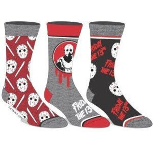 Bioworld Chaussettes - Friday The 13th - Jason Voorhees Paquet de 3 Paires Crew Tube