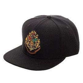Bioworld Baseball Cap - Harry Potter - Hogwarts Crest Embroidered Black Snapback