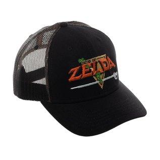 Bioworld Casquette - Nintendo The Legend of Zelda - Logo Original Brodé Ajustable avec Mesh