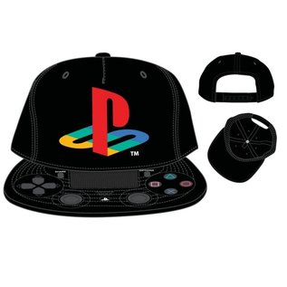 Bioworld Casquette - PlayStation - Logo et Manette de PS4 Noire Taille Enfant Snapback