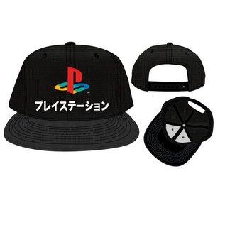 Bioworld Casquette - PlayStation - Logo Katakana Noire Snapback