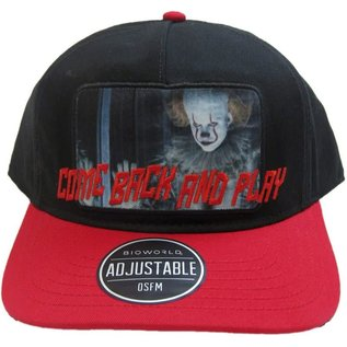 Bioworld Casquette - IT Chapter Two - Pennywise Come Back And Play Noire et Rouge Ajustable