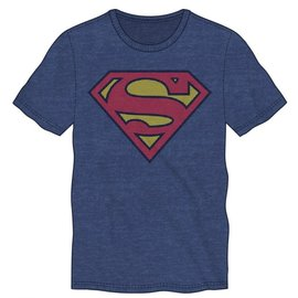 Bioworld Tee-shirt - DC Comics Superman - Logo Classique Bleu