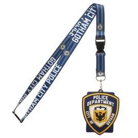 Bioworld Lanyard - DC Comics Batman - Police Department City of Gotham Rubber Badge