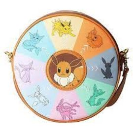 Loungefly Purse - Pokémon - All the Eeveelution Faux Leather Round
