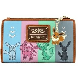 Loungefly Wallet - Pokémon - All the Eeveelution Faux Leather