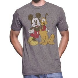 Jack of all Trades T-Shirt - Disney Mickey Mouse - Mickey and Pluto Vintage Grey